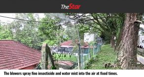 System installed by MPKj at two hotspots in Sungai Long to control spread of disease